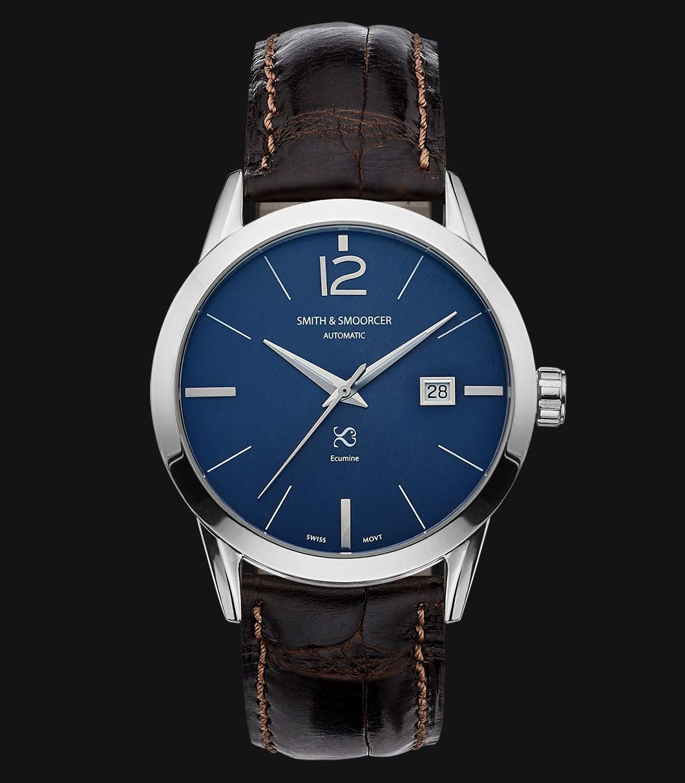 Reloj Automático Azul Ecumine Royal Blue Classic Coffee