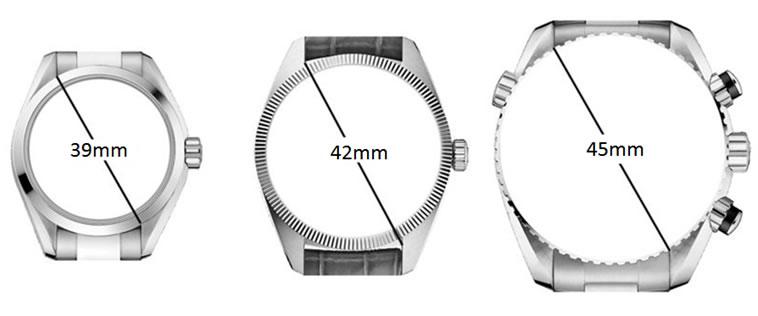 Tamaño relojes para hombre